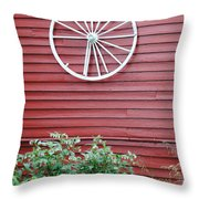 Country Wheel Throw Pillow