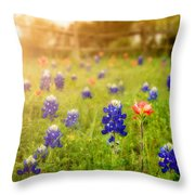 Country Wildflowers Throw Pillow