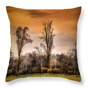 Countryscape With Bell Tower Throw Pillow