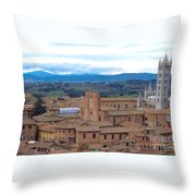 Countryside In Siena Throw Pillow