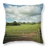 Countryside In Wales Throw Pillow