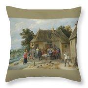 Countryside Inn Throw Pillow