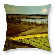 countryside/VINEYARD Throw Pillow by Marie Bulger