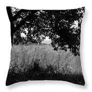 Countryside Of Italy Bnw Throw Pillow