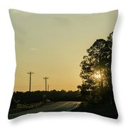 Countryside Sunset Throw Pillow