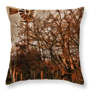 Countryside Windmill Throw Pillow