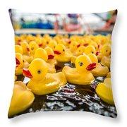 County Fair Rubber Duckies Throw Pillow