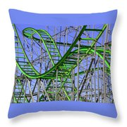 County Fair Thrill Ride Throw Pillow