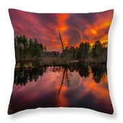 County Farm Sunset Throw Pillow