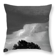 County Line Northern Colorado Lightning Storm Bw Throw Pillow