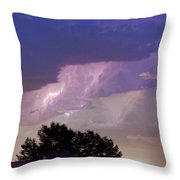 County Line Northern Colorado Lightning Storm Cropped Throw Pillow