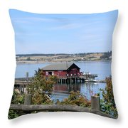 Coupeville Wharf II Throw Pillow
