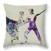 Couple Dancing Ballet Throw Pillow by Naxart Studio