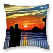 Romantic Sunrise. Throw Pillow
