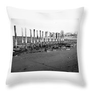 Couple On Beach Throw Pillow