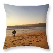 Couple On Venice Beach Throw Pillow