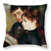 Couple Reading Throw Pillow