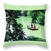 Couple Rowing Throw Pillow