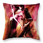 Couple Tango Art Throw Pillow