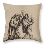 Couple Walking Throw Pillow