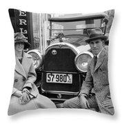 Couple With Their Peerless Car Throw Pillow