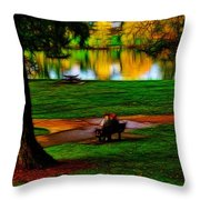 Couple's Therapy Throw Pillow