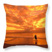 Couples Vacation Throw Pillow