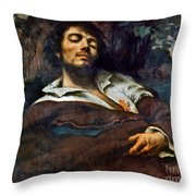 Courbet: Self-portrait Throw Pillow