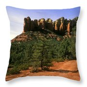 Court House Butte Throw Pillow