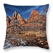 Court Of The Patriarchs II Throw Pillow