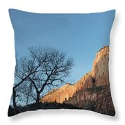Court Of The Patriarchs Sunrise Zion National Park Throw Pillow
