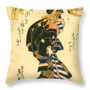 Courtesan And Riddle 1830 Throw Pillow