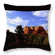 Courthous Butte Throw Pillow