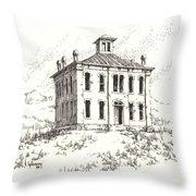Courthouse Belmont Ghost Town Nevada Throw Pillow