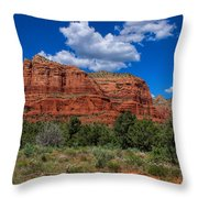 Courthouse Butte Throw Pillow by Ola Allen
