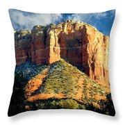 Courthouse Butte - Sedona Arizona Throw Pillow