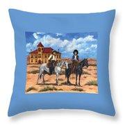 Courthouse Cowboys Throw Pillow