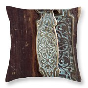 Courthouse Door Plate Throw Pillow