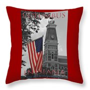 Courthouse In America Throw Pillow