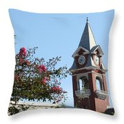 Courthouse In Spring Throw Pillow