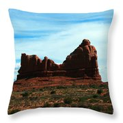 Courthouse Rock In Arches National Park Throw Pillow