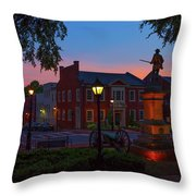 Courthouse Square Throw Pillow