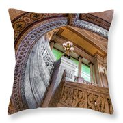 Courthouse Stairs Throw Pillow