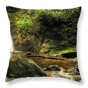 Courthouse Waterfall Throw Pillow