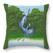 Courtship Dance Throw Pillow