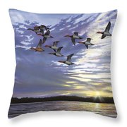 Courtship Flight Throw Pillow