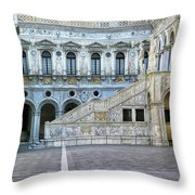 Courtyard At The Doge Palace Throw Pillow