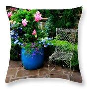 Courtyard Chair Throw Pillow