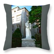 Courtyard Custody Throw Pillow