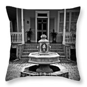 Courtyard Fountain Throw Pillow